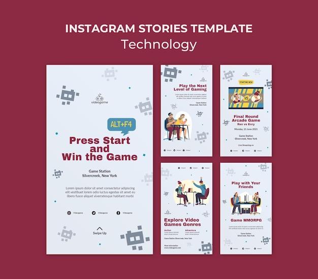 Modelo de histórias de instagram de tecnologia