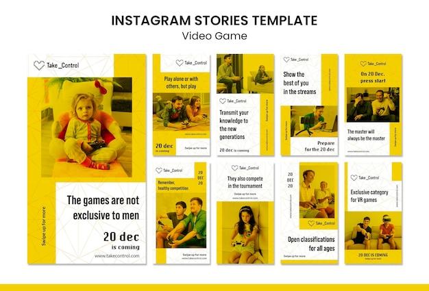 Modelo de histórias de instagram de videogame