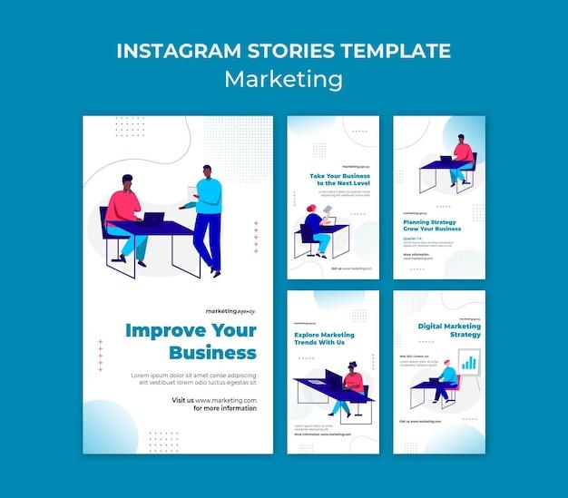 Modelo de histórias de marketing no instagram