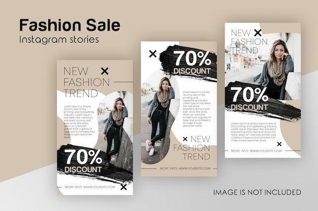 Modelo de histórias de moda