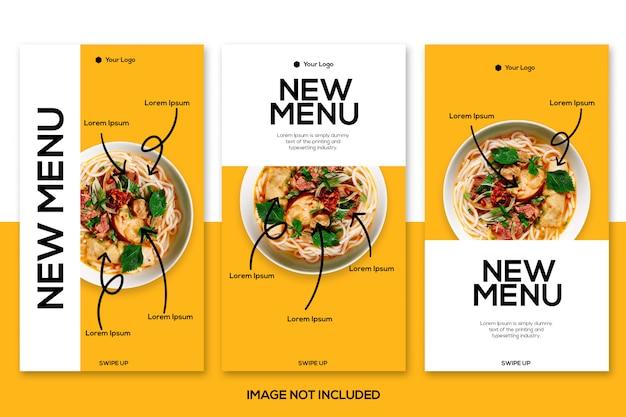 Modelo de histórias do instagram de alimentos