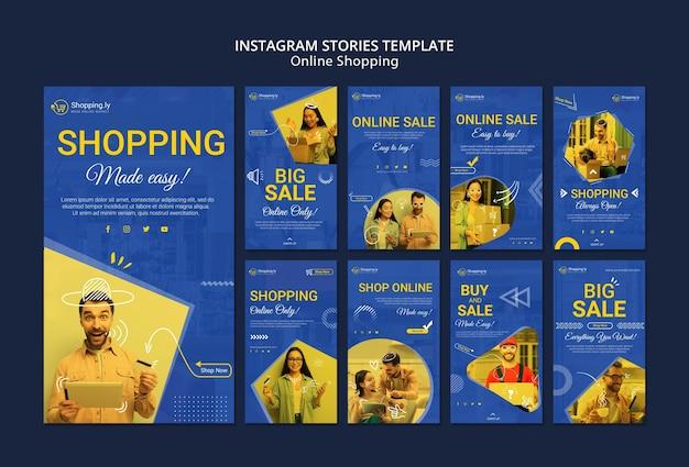Modelo de histórias do instagram de compras online