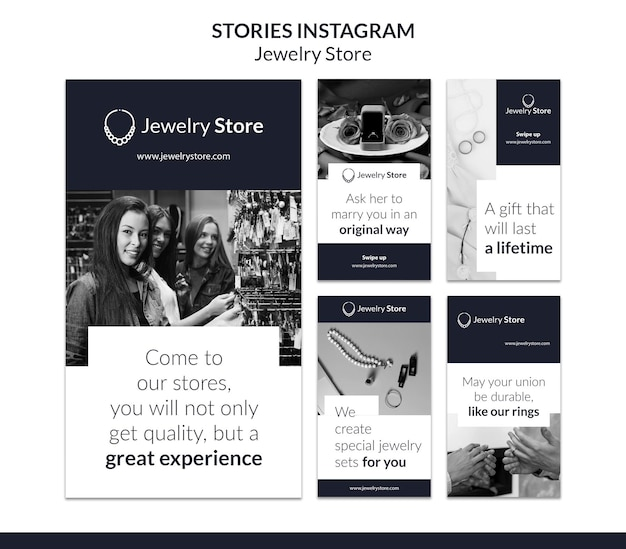 Modelo de histórias do instagram de conceito de joalheria