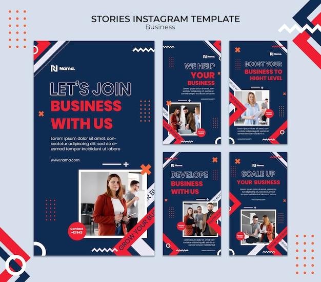 Modelo de histórias do instagram de conceito de negócios