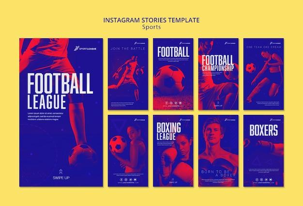 Modelo de histórias do instagram de esportes