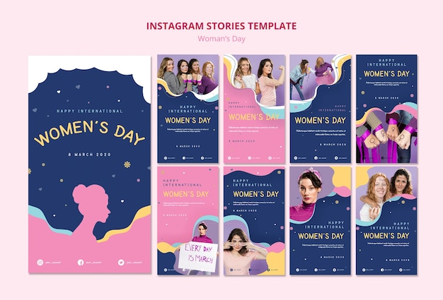Modelo de histórias do instagram de festa de mulheres