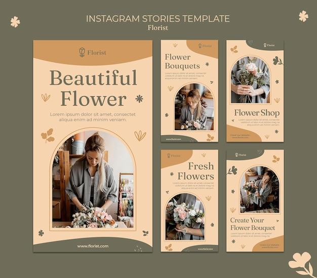 Modelo de histórias do instagram de florista