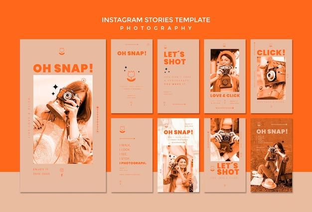 Modelo de histórias do instagram de fotografia