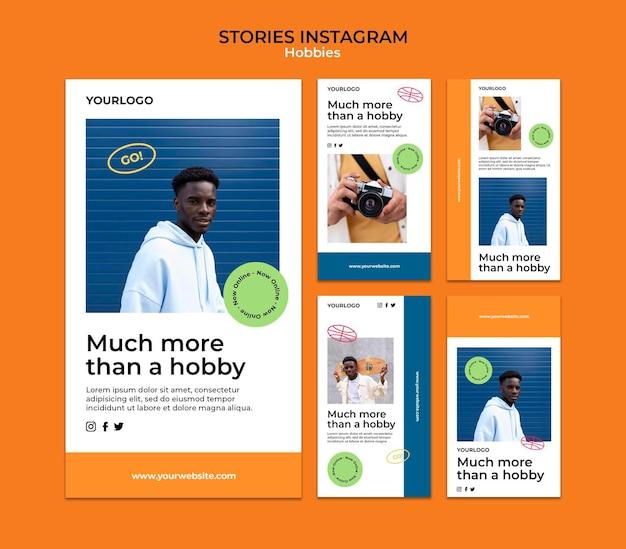 Modelo de histórias do instagram de hobbies