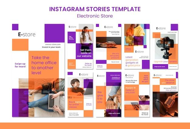 Modelo de histórias do instagram de loja eletrônica