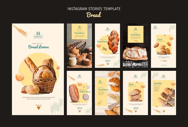 Modelo de histórias do instagram de padaria