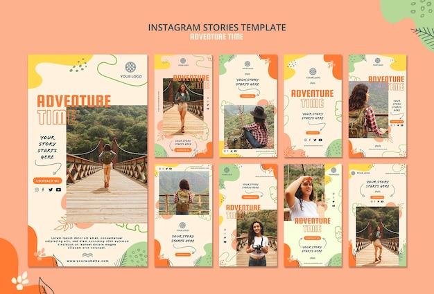 Modelo de histórias do instagram de tempo de aventura