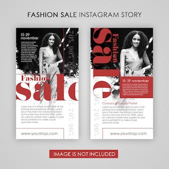 Modelo de histórias do instagram de venda de moda
