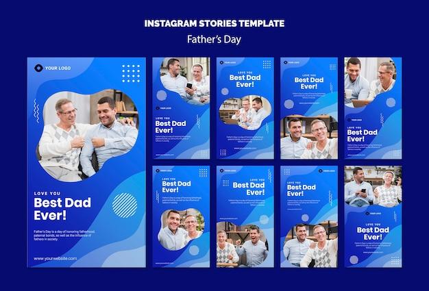Modelo de histórias do instagram do dia dos pais