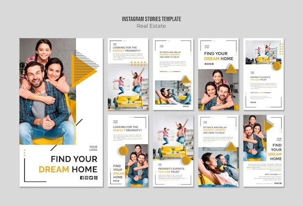Modelo de histórias do instagram imobiliário