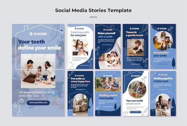 Modelo de histórias do instagram para casa