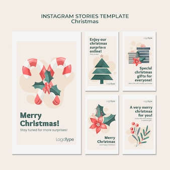 Modelo de histórias do instagram para compras de natal online Psd Premium