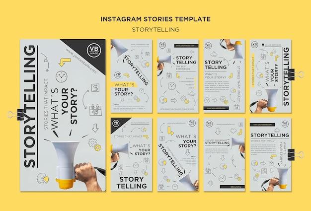 Modelo de histórias do instagram para contar histórias