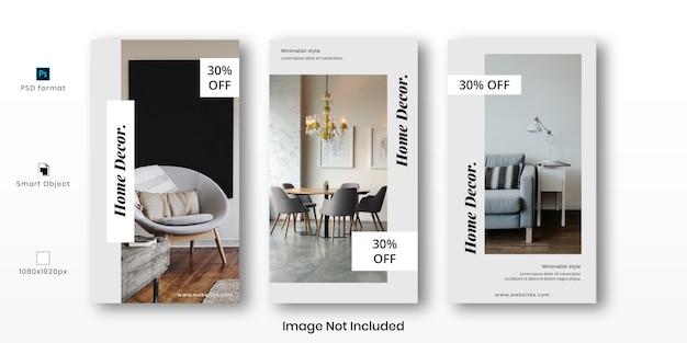 Modelo de histórias do instagram para decoração de casa