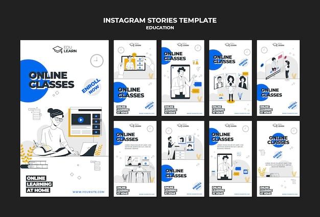 Modelo de histórias do instagram para educação