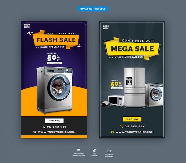 Modelo de histórias do instagram para eletrodomésticos