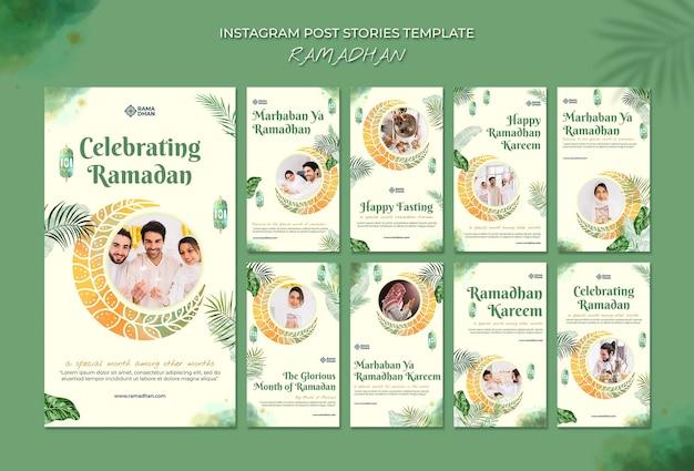 Modelo de histórias do instagram para eventos de ramadã