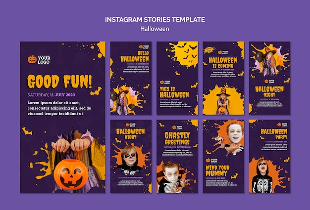 Modelo de histórias do instagram para halloween
