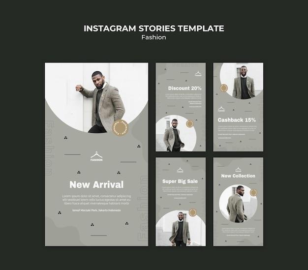 Modelo de histórias do instagram para loja de moda