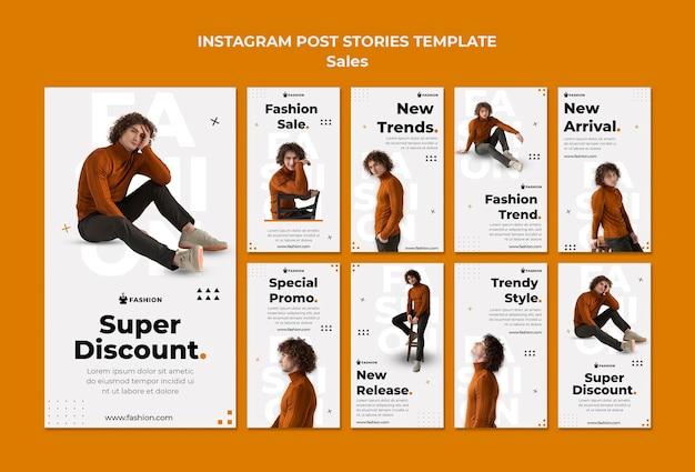 Modelo de histórias do instagram para vendas de moda