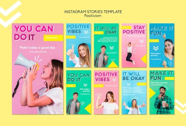 Modelo de histórias do positivismo instagram