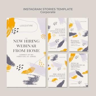Modelo de histórias instagram corporativas