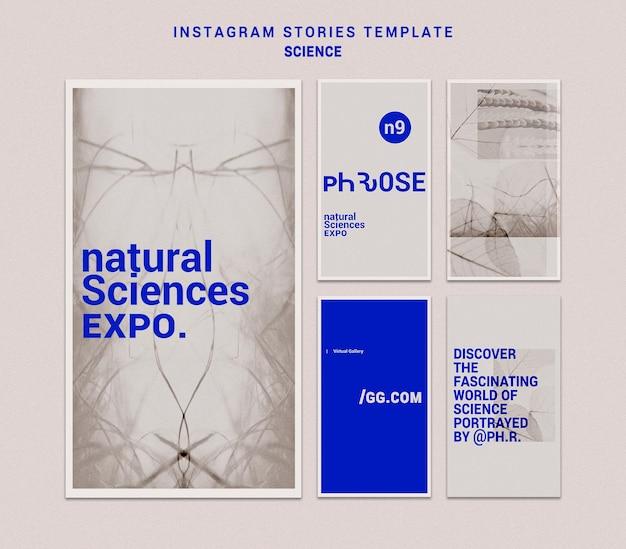 Modelo de histórias instagram de ciências