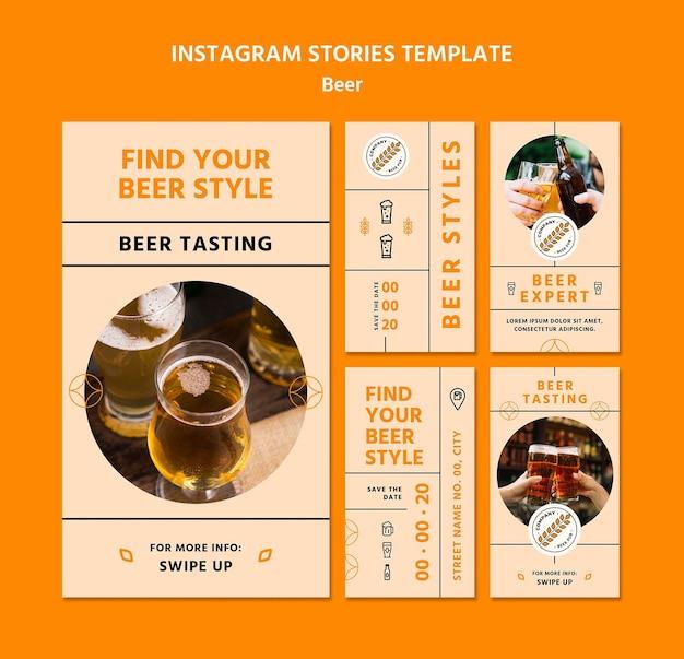 Modelo de histórias instagram de conceito de cerveja