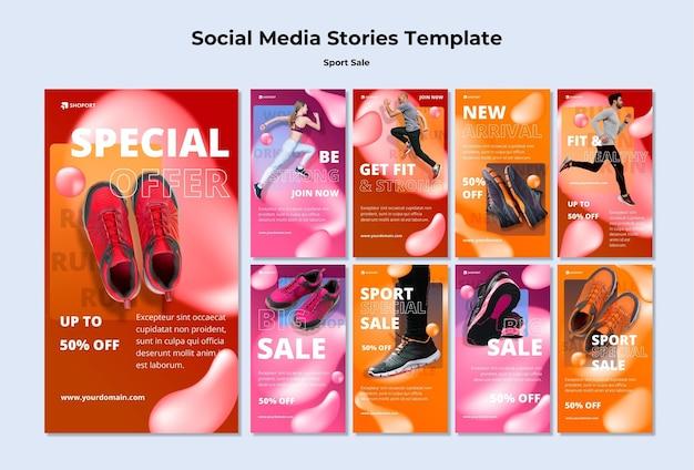 Modelo de histórias instagram de venda de esportes