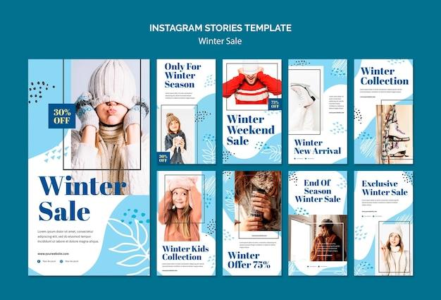 Modelo de histórias instagram de venda de inverno