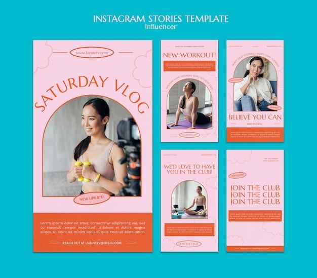 Modelo de histórias instagram de vlog de sábado