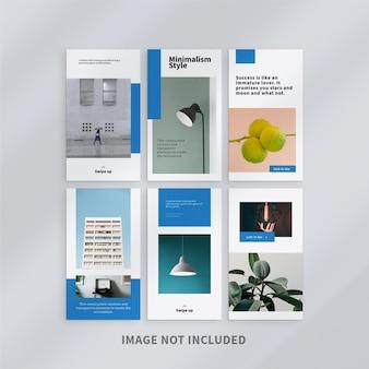 Modelo de histórias minimalistas do instagram