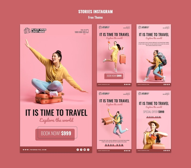 Modelo de histórias para viajar