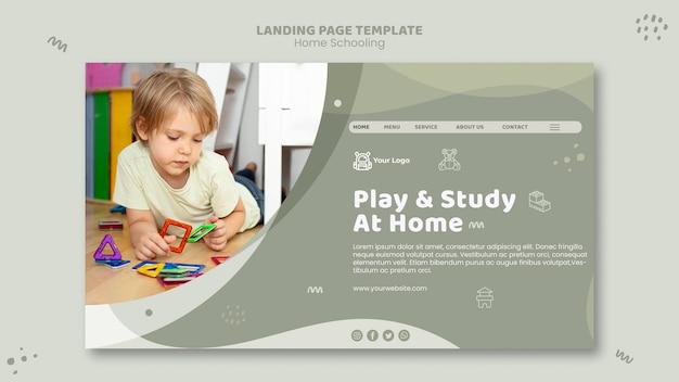 Modelo de home schooling da página de destino