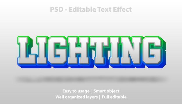 Modelo de iluminação de efeito de texto