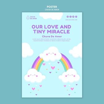 Modelo de impressão chuva de amor
