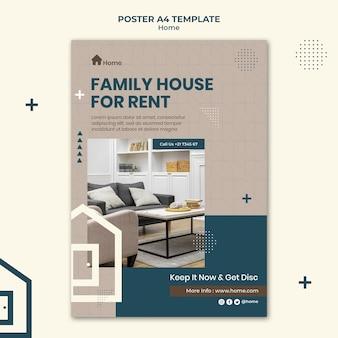 Modelo de impressão da casa dos sonhos