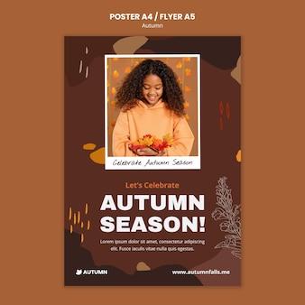 Modelo de impressão da temporada de outono