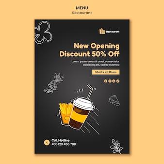 Modelo de impressão de abertura de restaurante