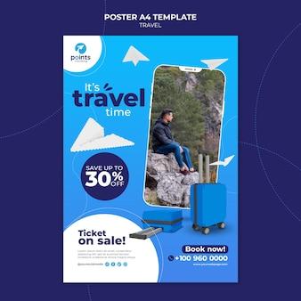 Modelo de impressão de agência de viagens