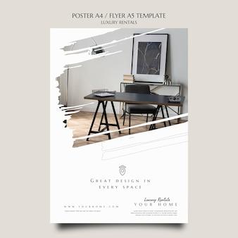 Modelo de impressão de aluguel de luxo