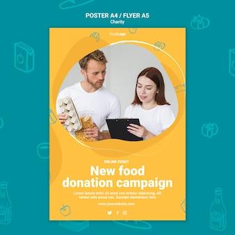 Modelo de impressão de campanha de caridade