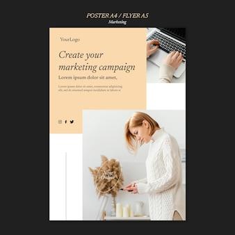 Modelo de impressão de campanha de marketing