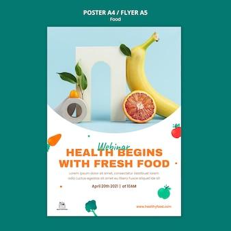 Modelo de impressão de comida saudável