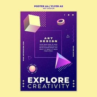 Modelo de impressão de design de arte